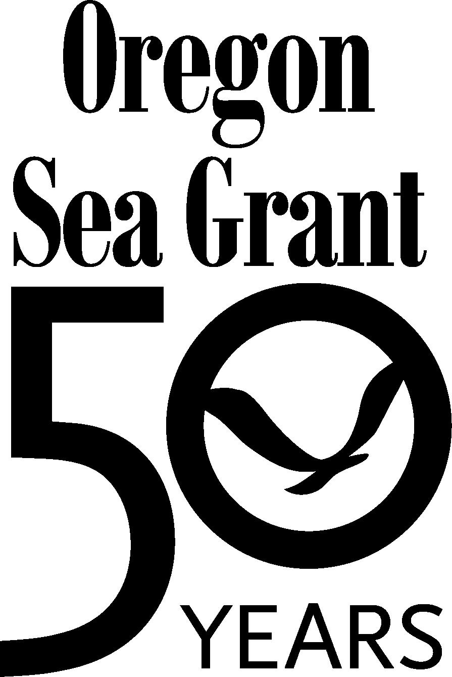 Oregon Sea Grant logo with 50th anniversary image