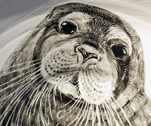 painting of bearded seal