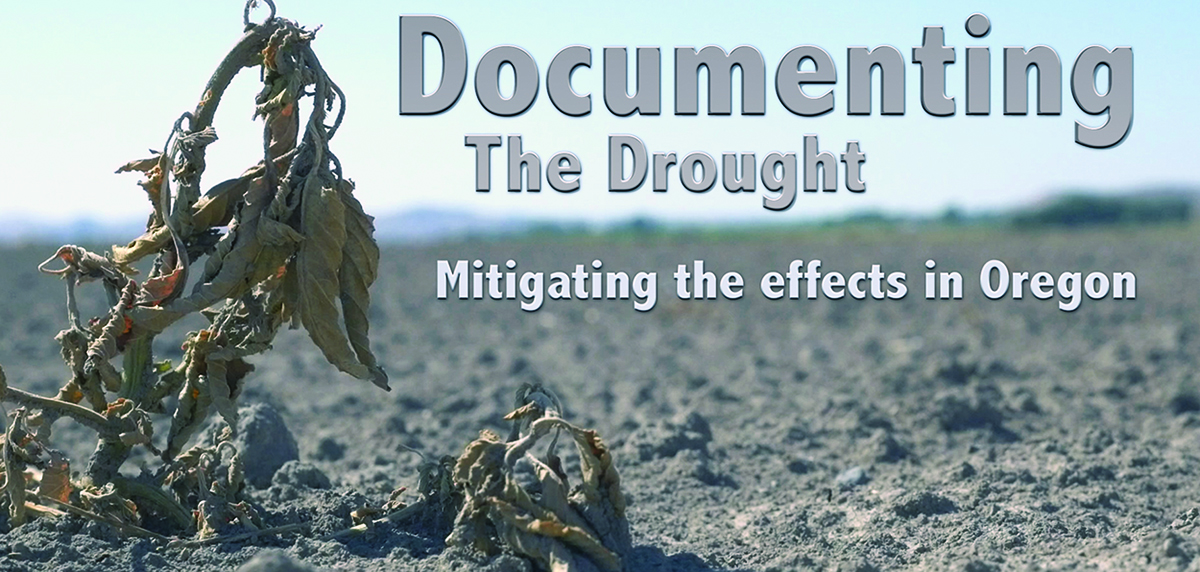 "Title screen from the Oregon Sea Grant video ""Documenting the Drought: Mitigating the effects in Oregon"""