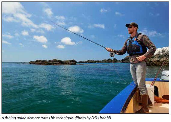 Fishing Guide casting fishing line