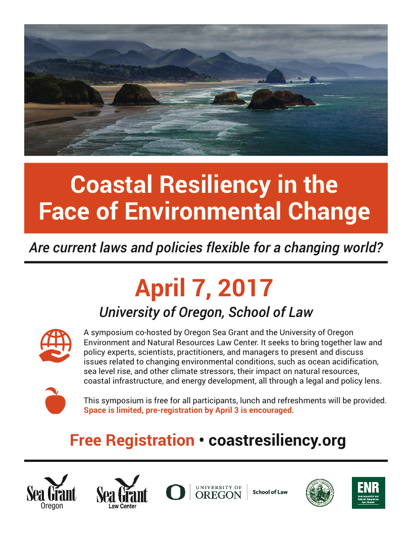 Coastal Resiliency symposium flyer