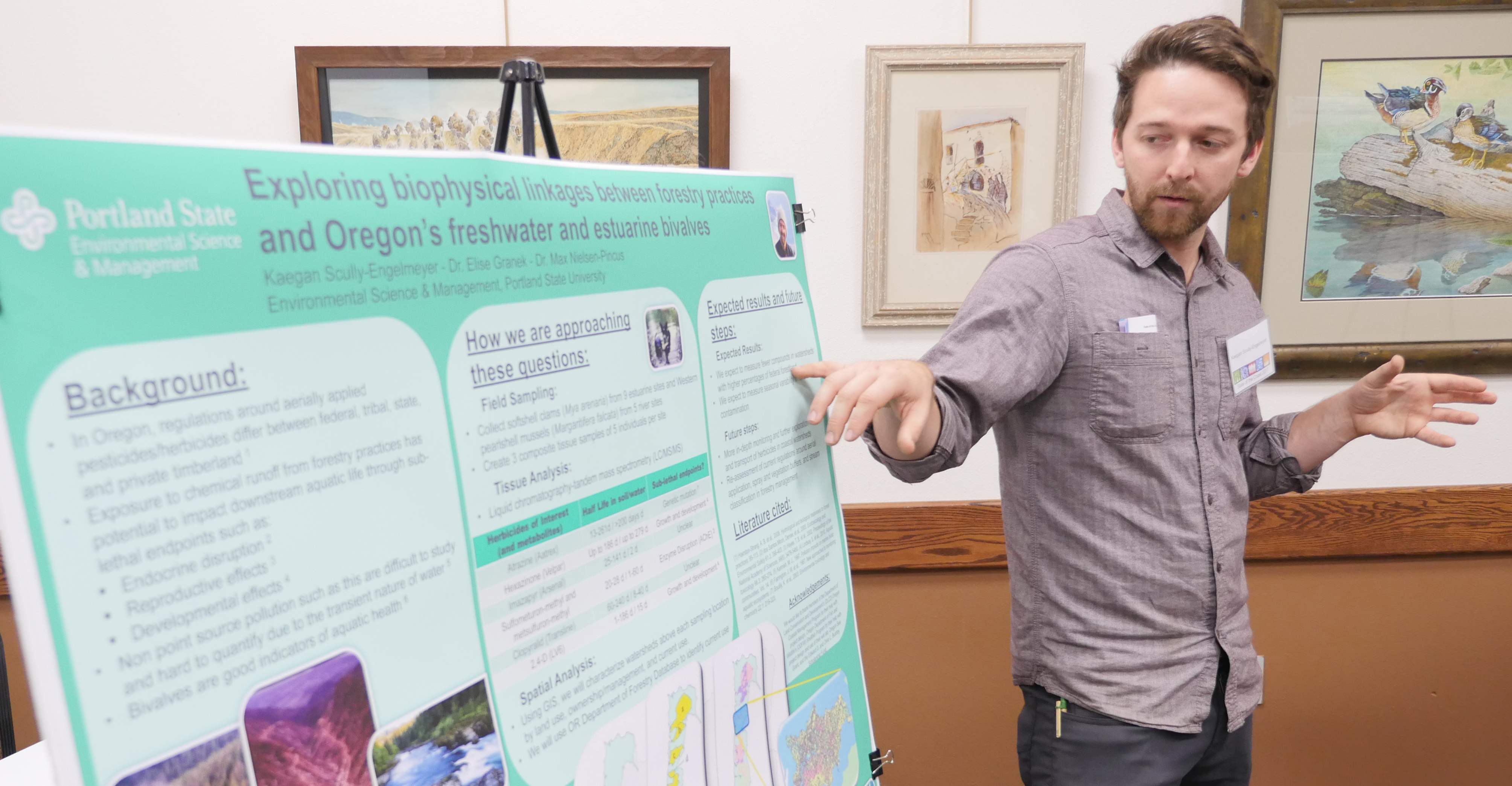 Kaegan Scully-Engelmeyer explains his research