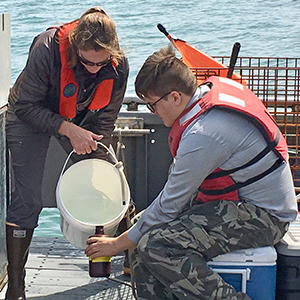 High school student helps scientist on Pacific Storm research vessel