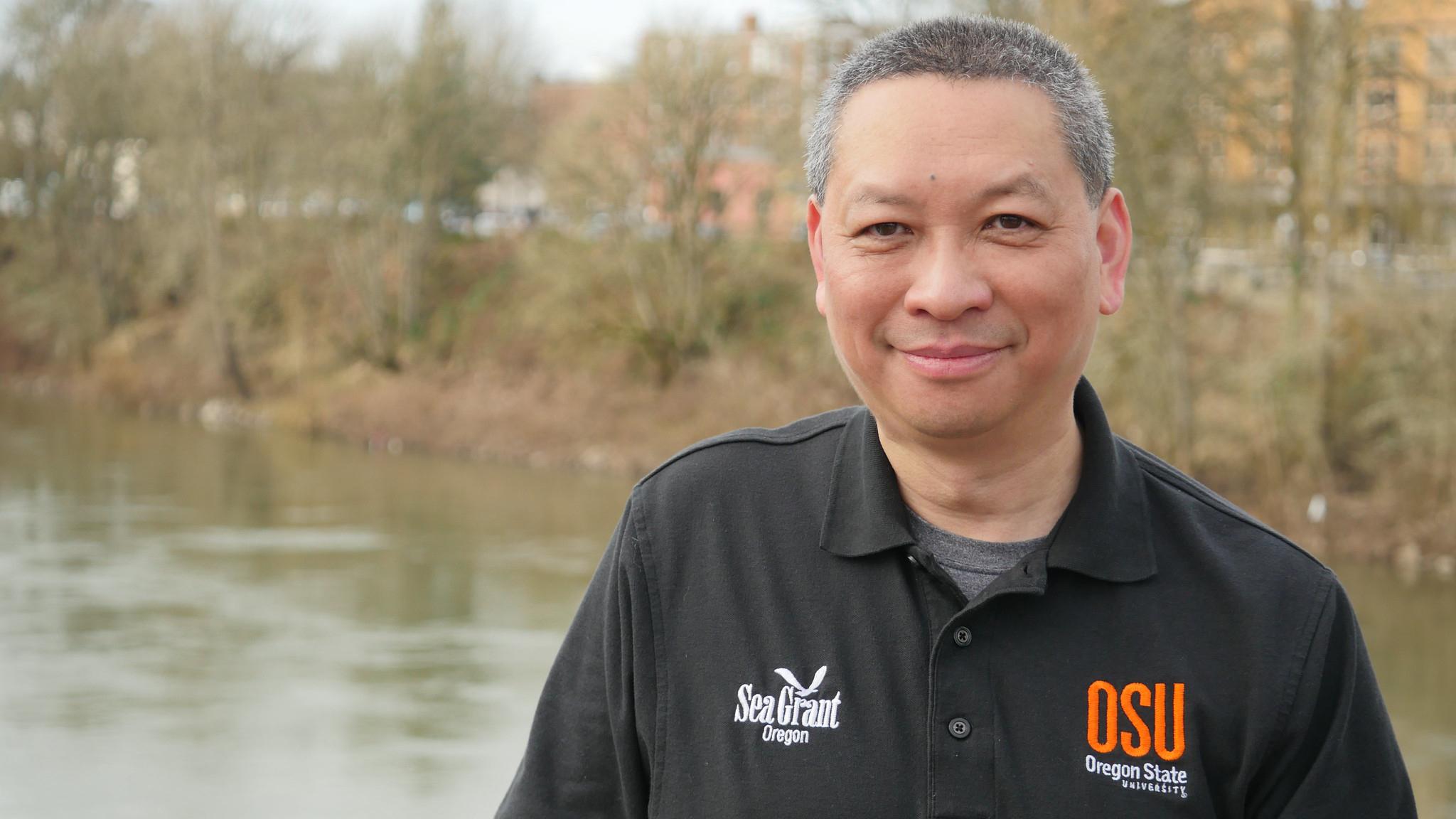Sam Chan, Oregon Sea Grant aquatic invasive species specialist