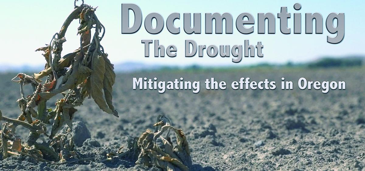 """Title screen from the Oregon Sea Grant video """"Documenting the Drought: Mitigating the effects in Oregon"""""""