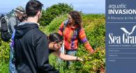 AIS outreach coordinator Tania Siemens leads students on a Bioblits of Yaquina Head