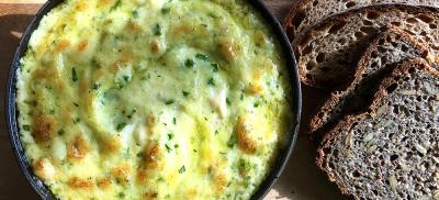 bowl of cod brandade and bread
