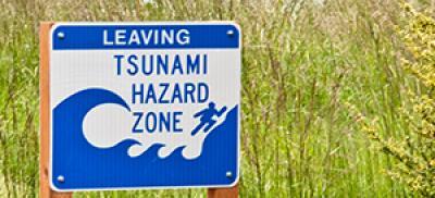 Tsunami evacuation sign