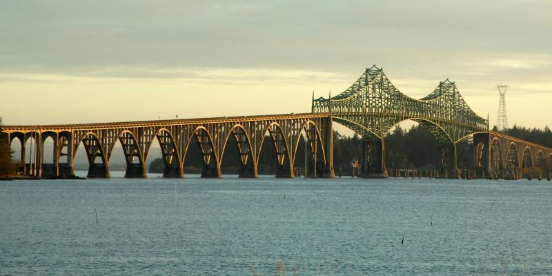 Photo of bridge in Coos Bay, Oregon.