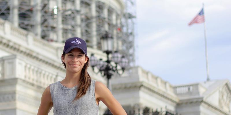 Eva Lipiec in Washington, D.C.