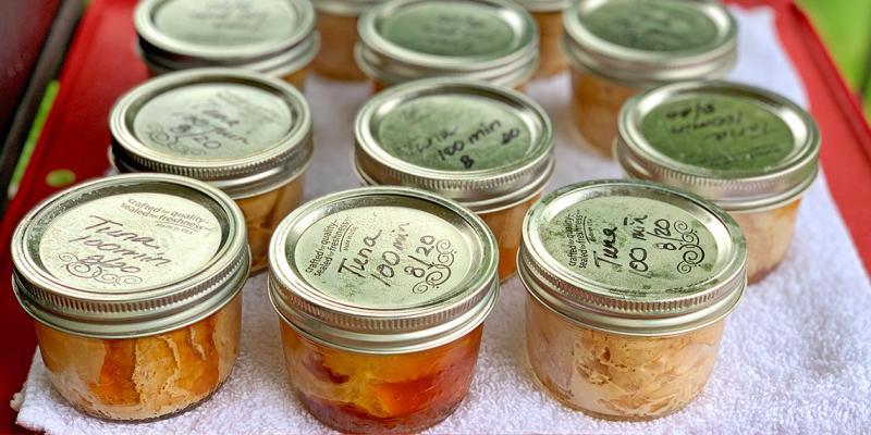 jars of canned tuna