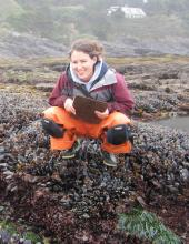 Jenna Sullivan-Stack monitoring the tide pool critters found along the Oregon Coast