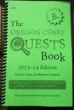 Oregon Coast Quests Book, 2013-14 cover