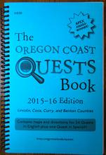 Oregon Coast Quests Book, 2015-16 cover