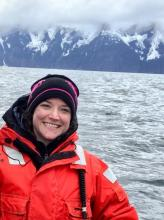 Shea Steingass in Resurrection Bay, Alaska